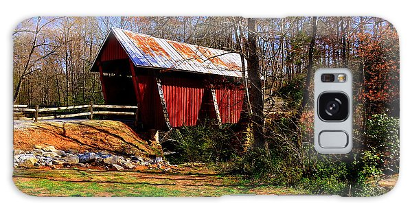 Campbell's Covered Bridge Est. 1909 Galaxy Case