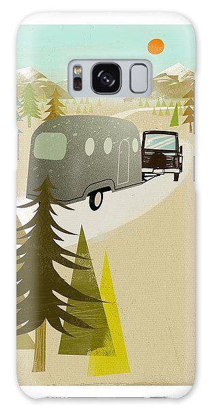 Caravan Galaxy Case - Camper Driving Into The Mountains by Gillham Studios