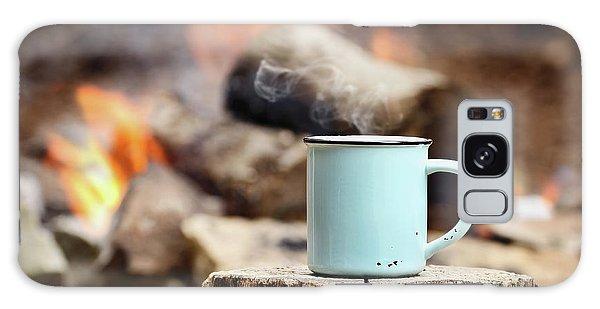 Campfire Coffee Galaxy Case by Stephanie Frey