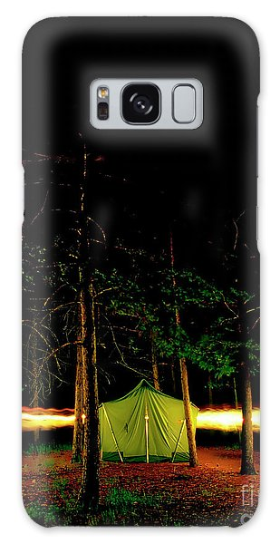 Camping In The Deep Woods   Galaxy Case