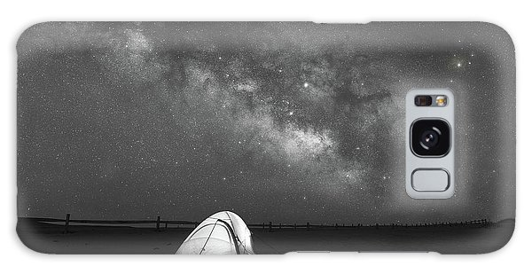 Board Walk Galaxy Case - Camping Under The Stars Bw by Michael Ver Sprill