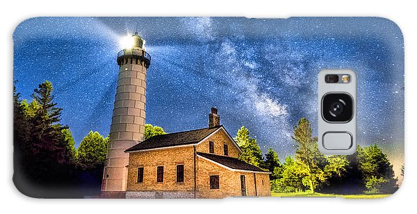 Cana Island Lighthouse Milky Way In Door County Wisconsin Galaxy Case