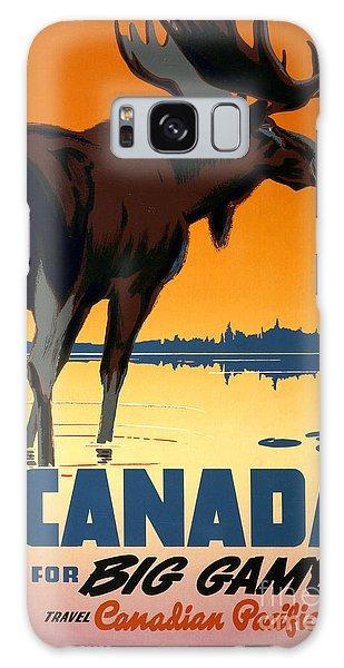 Canada Big Game Vintage Travel Poster Restored Galaxy Case