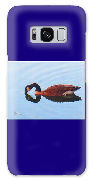 Canada Goose On Clear Lake Galaxy Case