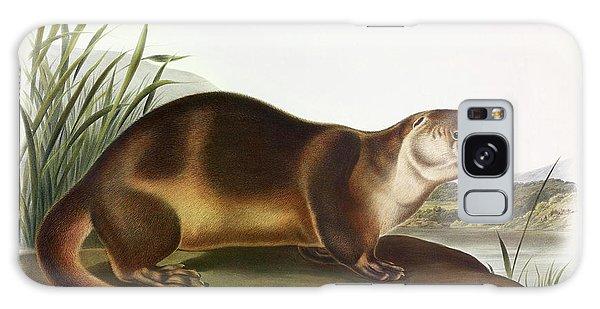 River Otter Galaxy Case - Canada Otter by John James Audubon