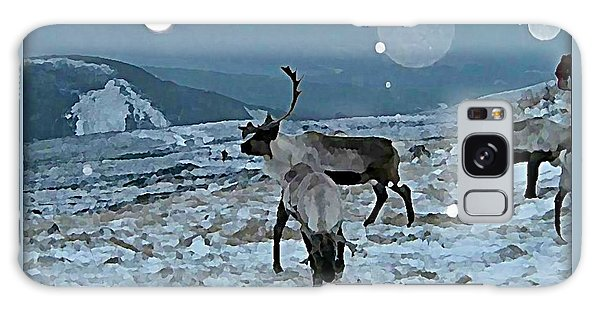 Galaxy Case - Canadian Elk By Moonlight by Raven Hannah