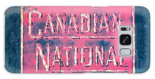 Canadian National Railroad Rail Car Signage Galaxy Case