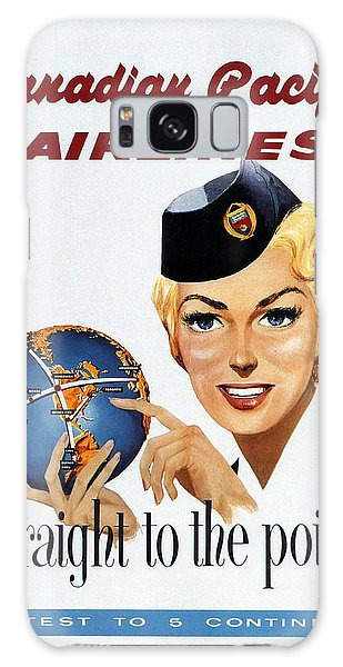 Canadian Pacific Airlines - Straight To The Point - Retro Travel Poster - Vintage Poster Galaxy Case