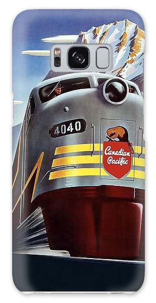 Canadian Pacific - Railroad Engine, Mountains - Retro Travel Poster - Vintage Poster Galaxy Case