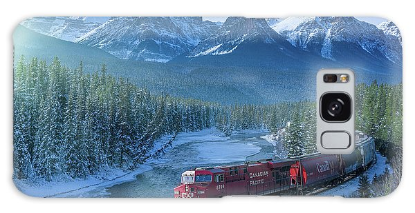 Canadian Pacific Railway Through The Rocky Mountains Galaxy Case by Rod Jellison