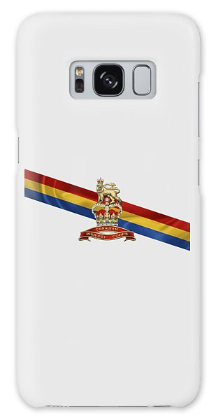 Canadian Provost Corps - C Pro C Badge Over Unit Colours Galaxy Case by Serge Averbukh