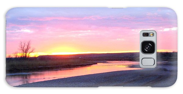 Canadian River Sunset Galaxy Case