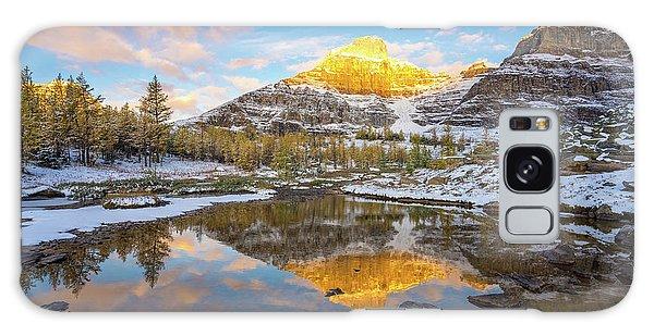 Moraine Lake Galaxy Case - Canadian Rockies Fall Splendor Reflection by Mike Reid