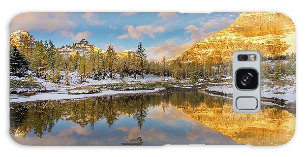 Moraine Lake Galaxy Case - Canadian Rockies Golden Autumn Serenity by Mike Reid