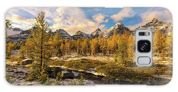 Moraine Lake Galaxy Case - Canadian Rockies Golden Larches In Larch Valley by Mike Reid
