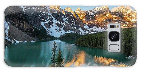 Moraine Lake Galaxy Case - Canadian Rockies Golden Sunrise Light Reflection by Mike Reid
