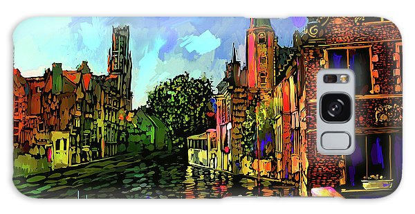 Canal In Bruges Galaxy Case