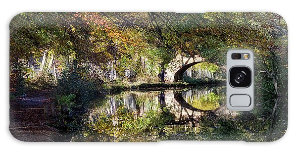 Canal Path In Autumn Galaxy Case