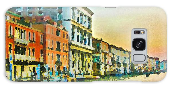 Canal Sunset - Venice Galaxy Case by Tom Cameron