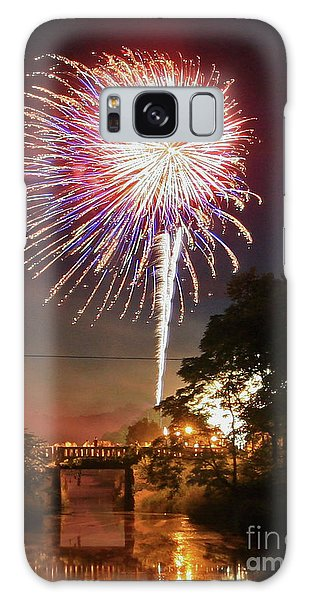 Canal View Of Fire Works Galaxy Case