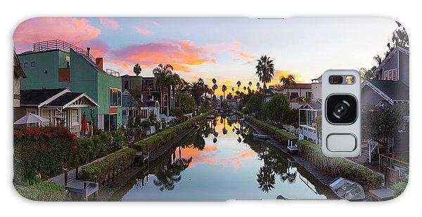 Venice Beach Galaxy Case - Canals Of Venice Beach by Sean Davey