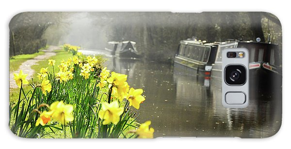 Canalside Daffodils Galaxy Case
