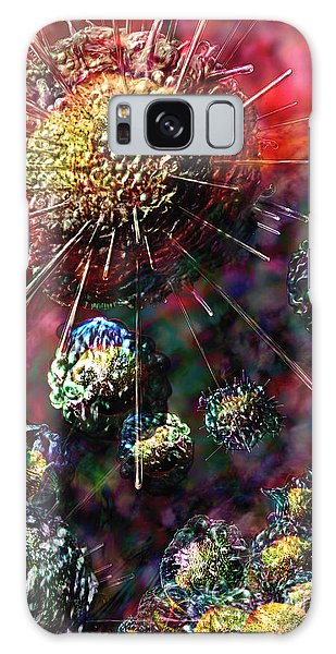 Galaxy Case featuring the digital art Cancer Cells by Russell Kightley