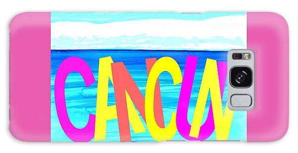 Cancun Poster T-shirt Galaxy Case