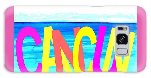 Cancun Poster T-shirt Galaxy Case by Dick Sauer
