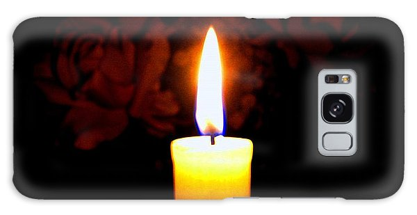 Candlelight And Roses Galaxy Case