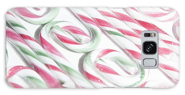 Candy Cane Swirls Galaxy Case