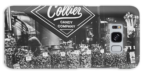 Candy Store- Ponce City Market - Black And White Galaxy Case