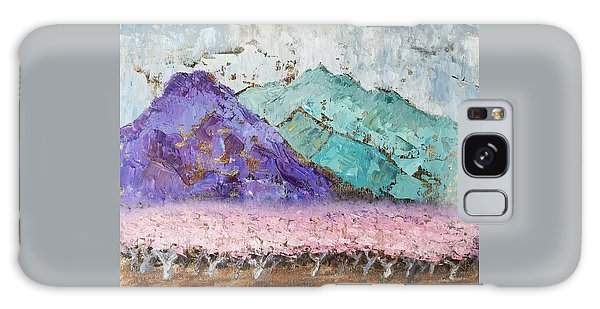 Canigou With Blooming Peach Trees Galaxy Case