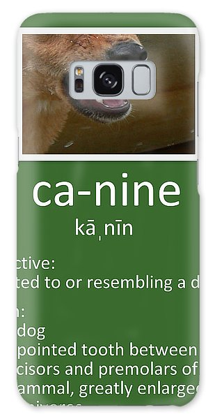 Canine Poster Galaxy Case