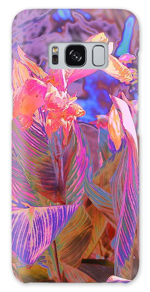 Canna Abstract 9 Galaxy Case by M Diane Bonaparte