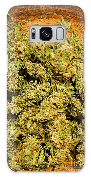 Close Up Galaxy Case - Cannabis Bowl by Jorgo Photography - Wall Art Gallery