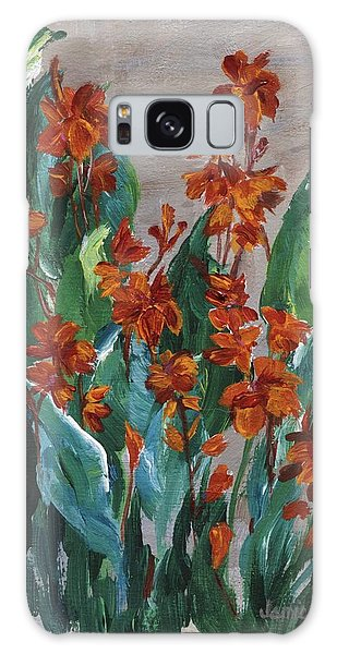 Galaxy Case featuring the painting Cannas by Jamie Frier