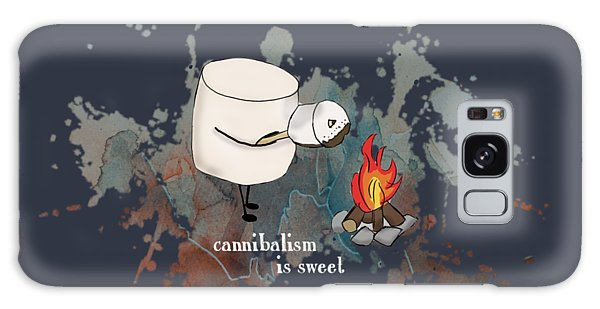 Cannibalism Is Sweet Illustrated Galaxy Case by Heather Applegate