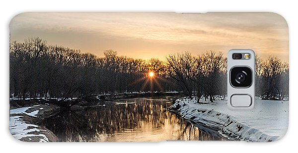 Cannon River Sunrise Galaxy Case by Dan Traun