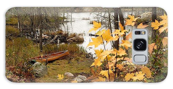 Canoe At Little Bass Lake Galaxy Case by Larry Ricker