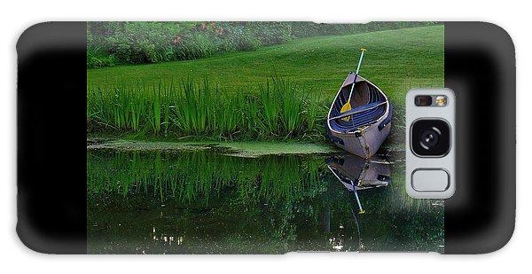 Canoe Reflection Galaxy Case