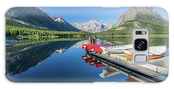Canoe Reflections Galaxy Case