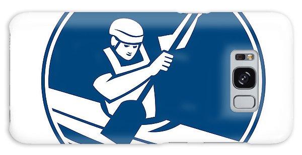 Sportsman Galaxy Case - Canoe Slalom Circle Icon by Aloysius Patrimonio