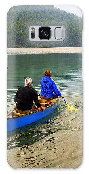 Canoeing Glacier Park Galaxy Case