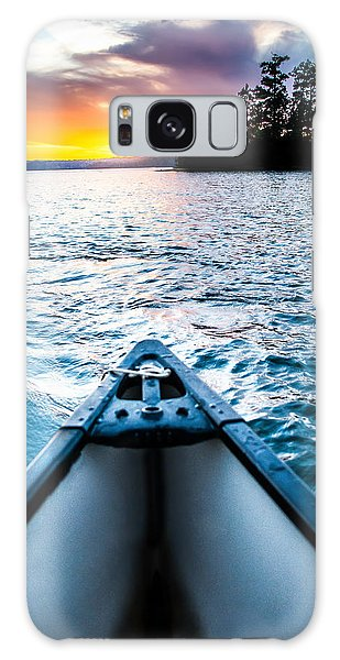 Canoeing In Paradise Galaxy Case by Parker Cunningham