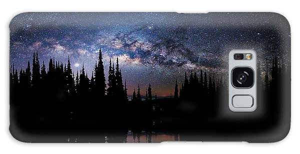 Canoeing - Milky Way - Night Scene Galaxy Case