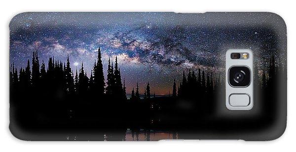 Canoeing - Milky Way - Night Scene Galaxy Case by Andrea Kollo