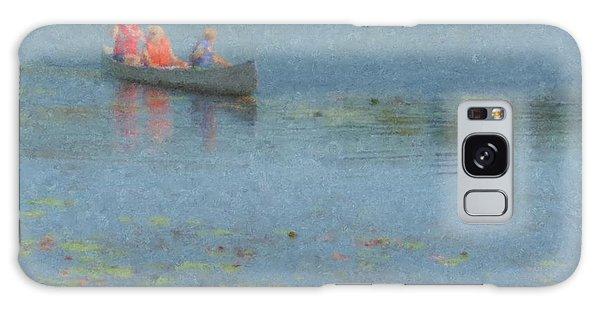 Canoes On Shovelshop Pond Galaxy Case
