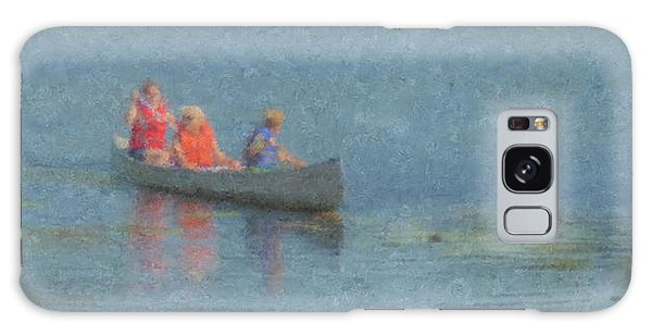 Canoes On Shovelshop Pond Galaxy Case