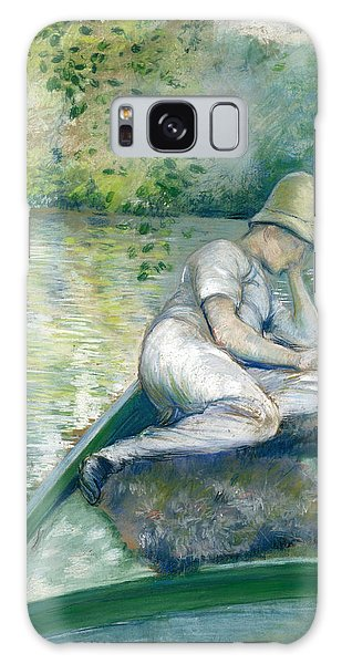Impressionistic Galaxy Case - Canotier Sur L'yerres by Gustave Caillebotte